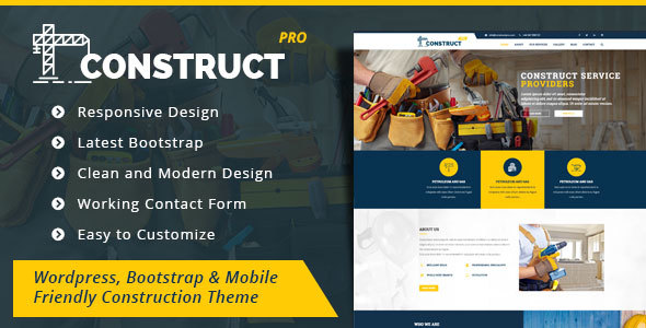 Construct Pro (Construction)  – WordPress Theme For Construction Business
