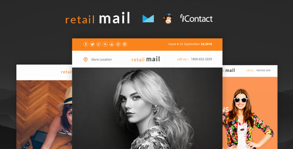Retail Mail - Responsive E-mail Templates set + Online Access - Email Templates Marketing
