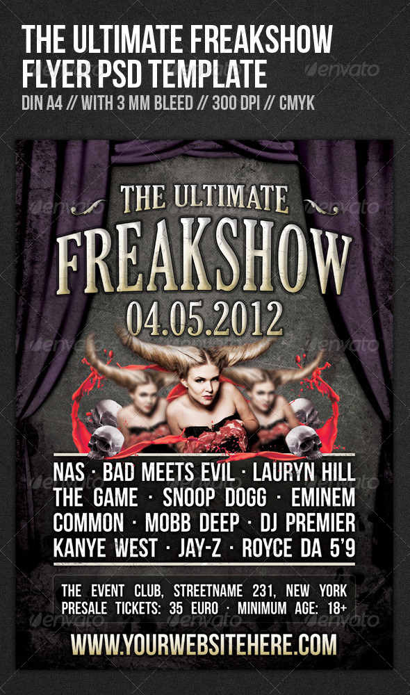 The Ultimate Freakshow Flyer Template - Clubs & Parties Events