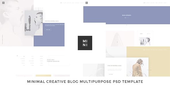 Mini - Creative Blog Multipurpose PSD Template - Creative PSD Templates