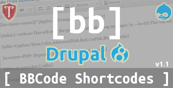 BBCode Shortcodes for Drupal 8 - CodeCanyon Item for Sale