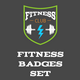 Fitness And Sport Badges - GraphicRiver Item for Sale