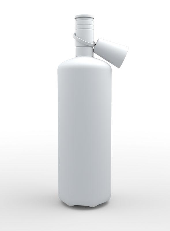 Vodka Botol 3d Model - 3DOcean Item for Sale