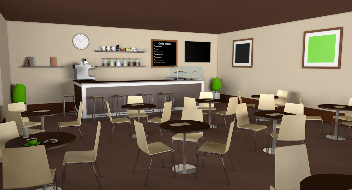 Low Poly Coffee Shop By Formd 3docean