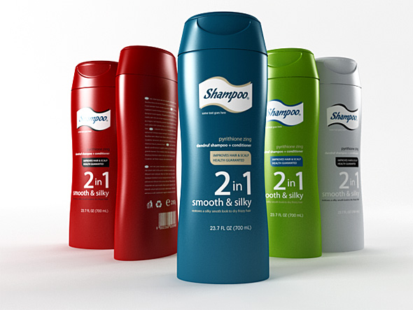 shampoo bottle - 3DOcean Item for Sale