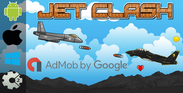 Jet Clash - HTML5 Game + Admob (Construct 2 - CAPX) - CodeCanyon Item for Sale