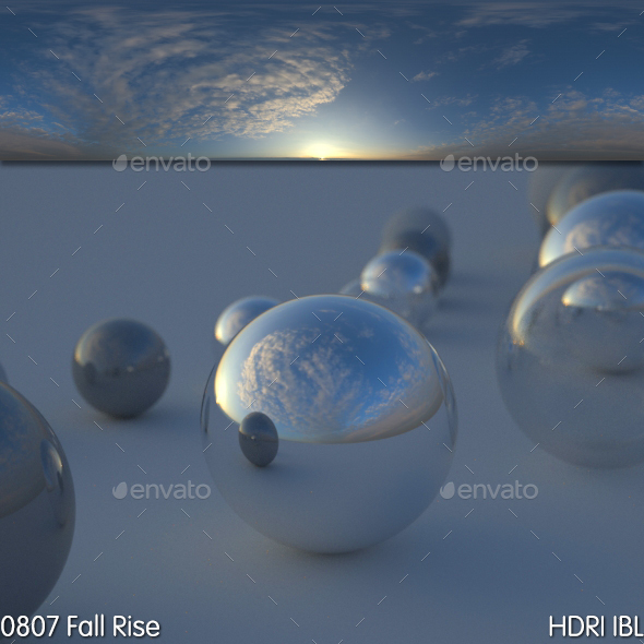 HDRI IBL 0807 Fall Rise Sky - 3DOcean Item for Sale
