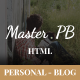 Master PB - Personal Blog HTML Template - ThemeForest Item for Sale