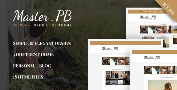 Master PB – Personal Blog HTML Template