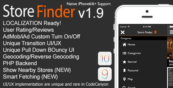 Store Finder Full iOS Application v1.9 - CodeCanyon Item for Sale
