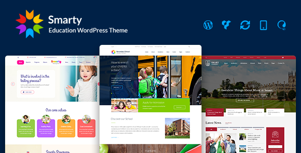 Smarty – Kindergarten, School, University, College, Learning & Education WordPress Theme
