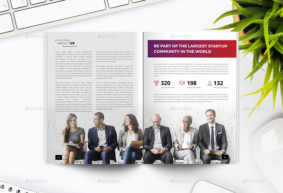 CoWork Company Profile Indesign Template by peterdraw | GraphicRiver