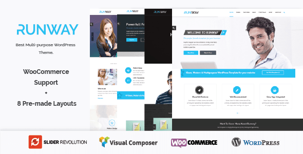 Runway – Responsive Multi-Purpose WordPress Theme