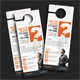 Corporate Door Hangers V21 - GraphicRiver Item for Sale