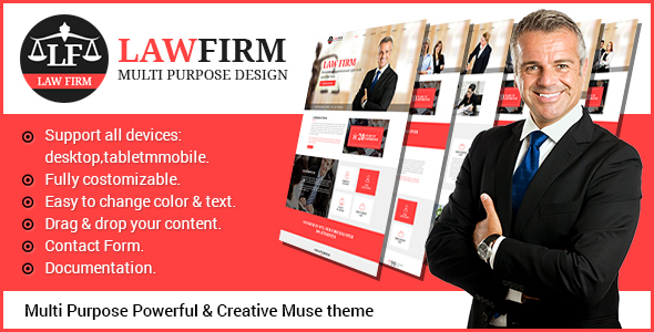 LawFirm – Multipurpose Muse Theme
