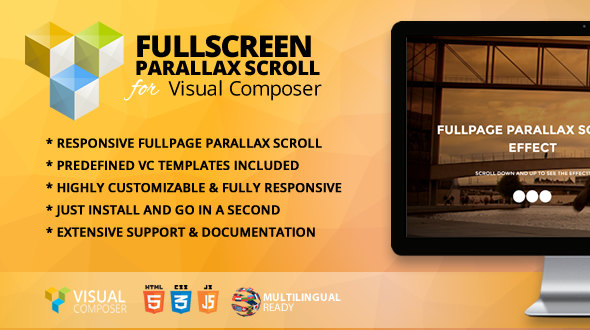 Fullpage Parallax Scroll Addon for Visual Composer - CodeCanyon Item for Sale