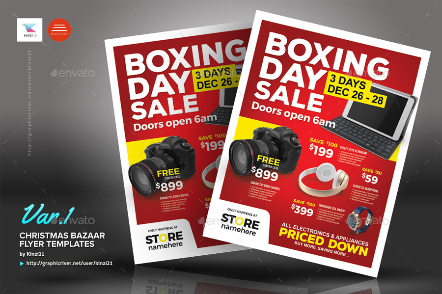 auction brochure template - boxing day sale flyer templates by kinzi21 graphicriver