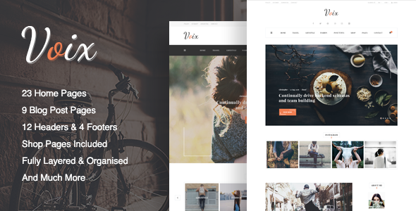 Voix - Blog PSD Template - Creative PSD Templates