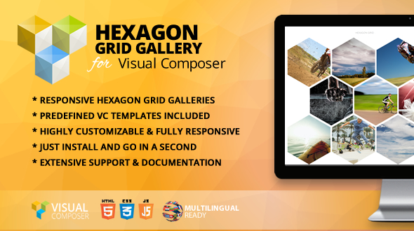 Hexagon Grid Gallery Addon for WPBakery Page Builder (formerly Visual Composer) - CodeCanyon Item for Sale