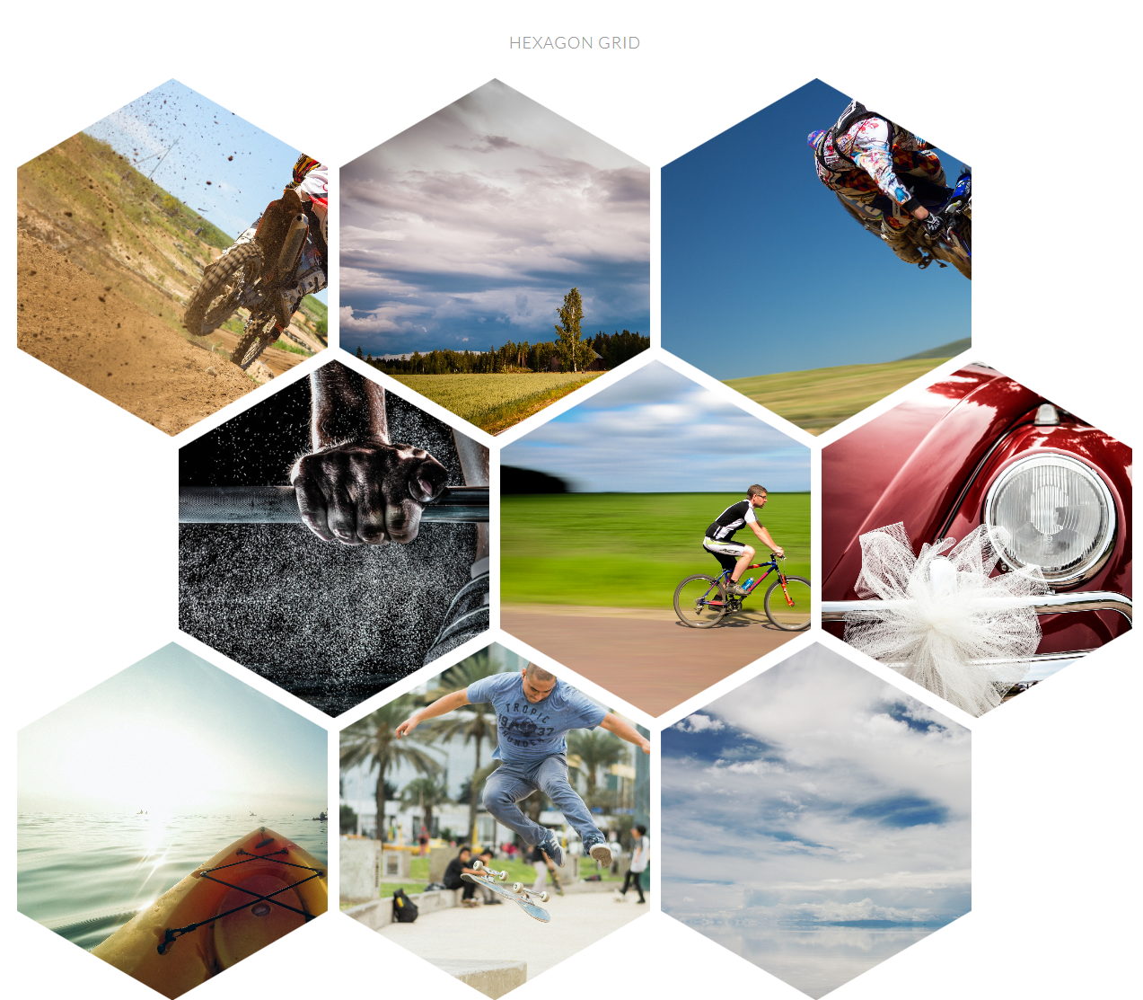 Photo Gallery: Hexagon Grid Gallery Addon For WPBakery Page Builder