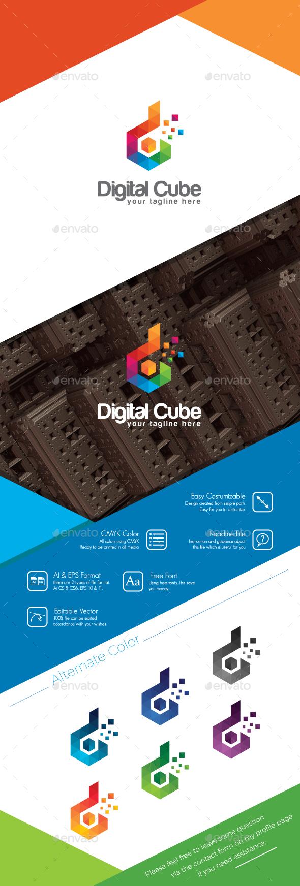 Digital Cube Logo - Symbols Logo Templates
