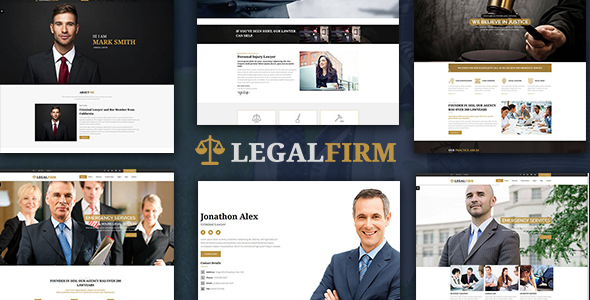 Insurance and Lawyer Business HTML5 Template - Legal Firm - Corporate Site Templates