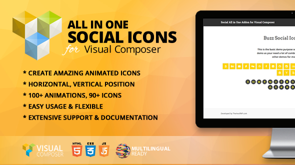 All in One Social Icons Addon for Visual Composer - CodeCanyon Item for Sale