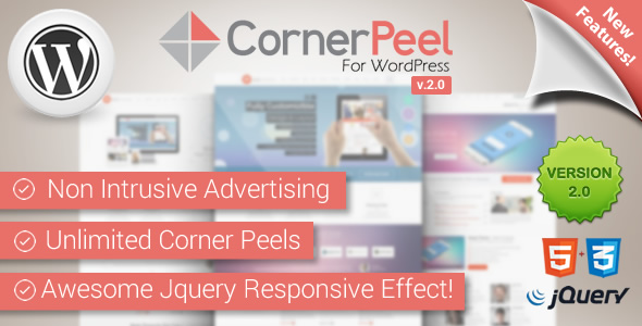WordPress Corner Peel Plugin - CodeCanyon Item for Sale