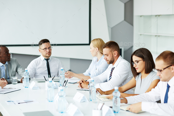Conference for young specialists - Stock Photo - Images