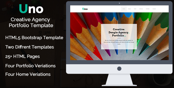 Uno – Creative One Page / Multi Page – HTML5 Template