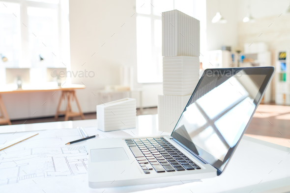 Workplace of architect - Stock Photo - Images
