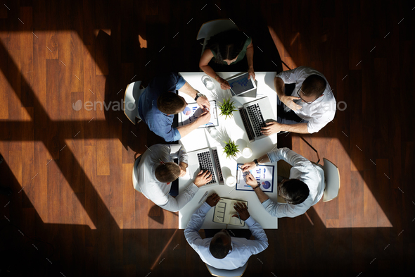 Meeting of financial managers - Stock Photo - Images