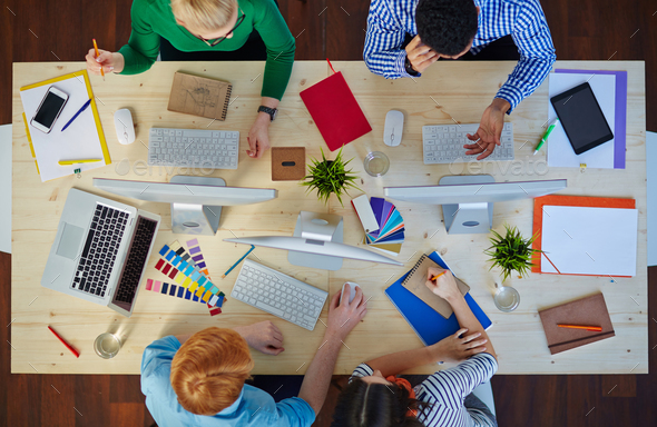Creative designers at work - Stock Photo - Images