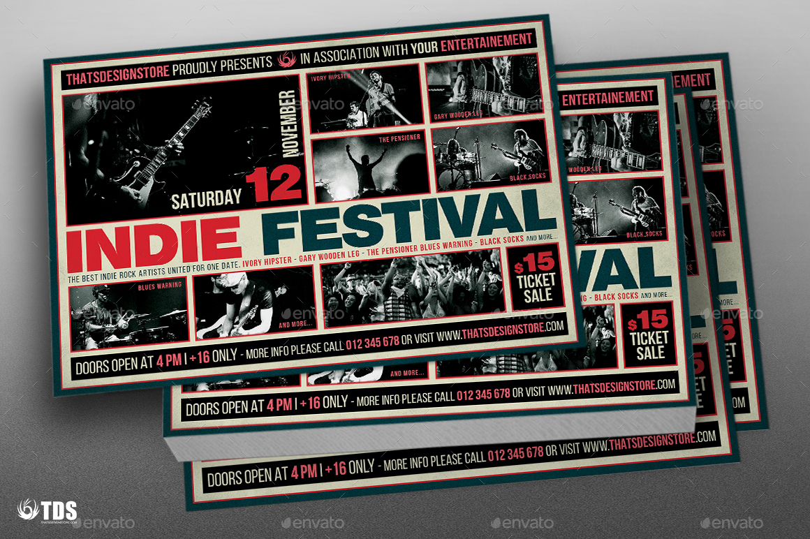 indie fest flyer template v3 by lou606