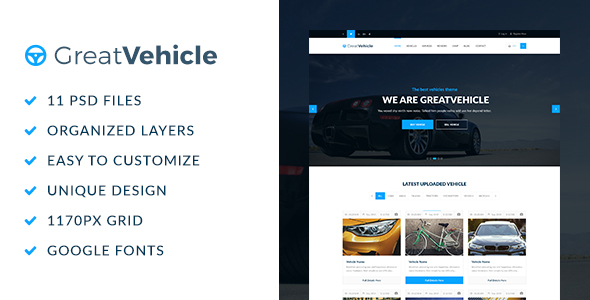 GreatVehicle PSD Template - Business Corporate