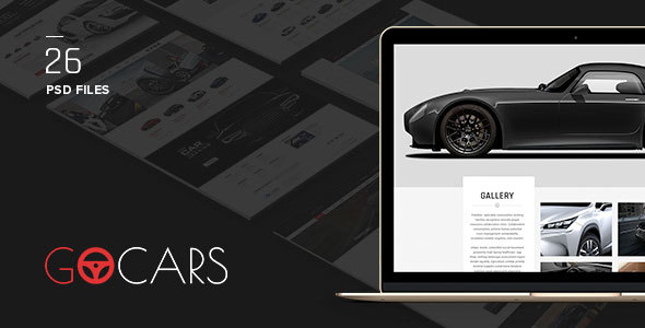 Go Cars – PSD Template Design for Car Dealers Market