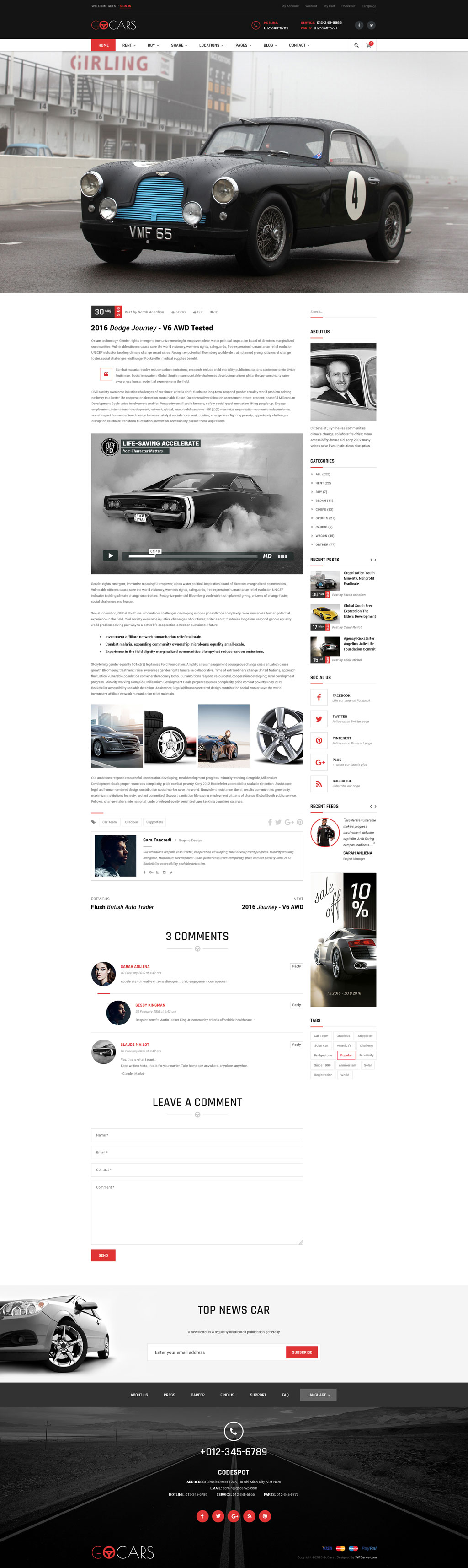 Go Cars - PSD Template Design for Car Dealers Market by tvlgiao ...