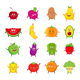 Fruits and Vegetables Cartoon Set - GraphicRiver Item for Sale