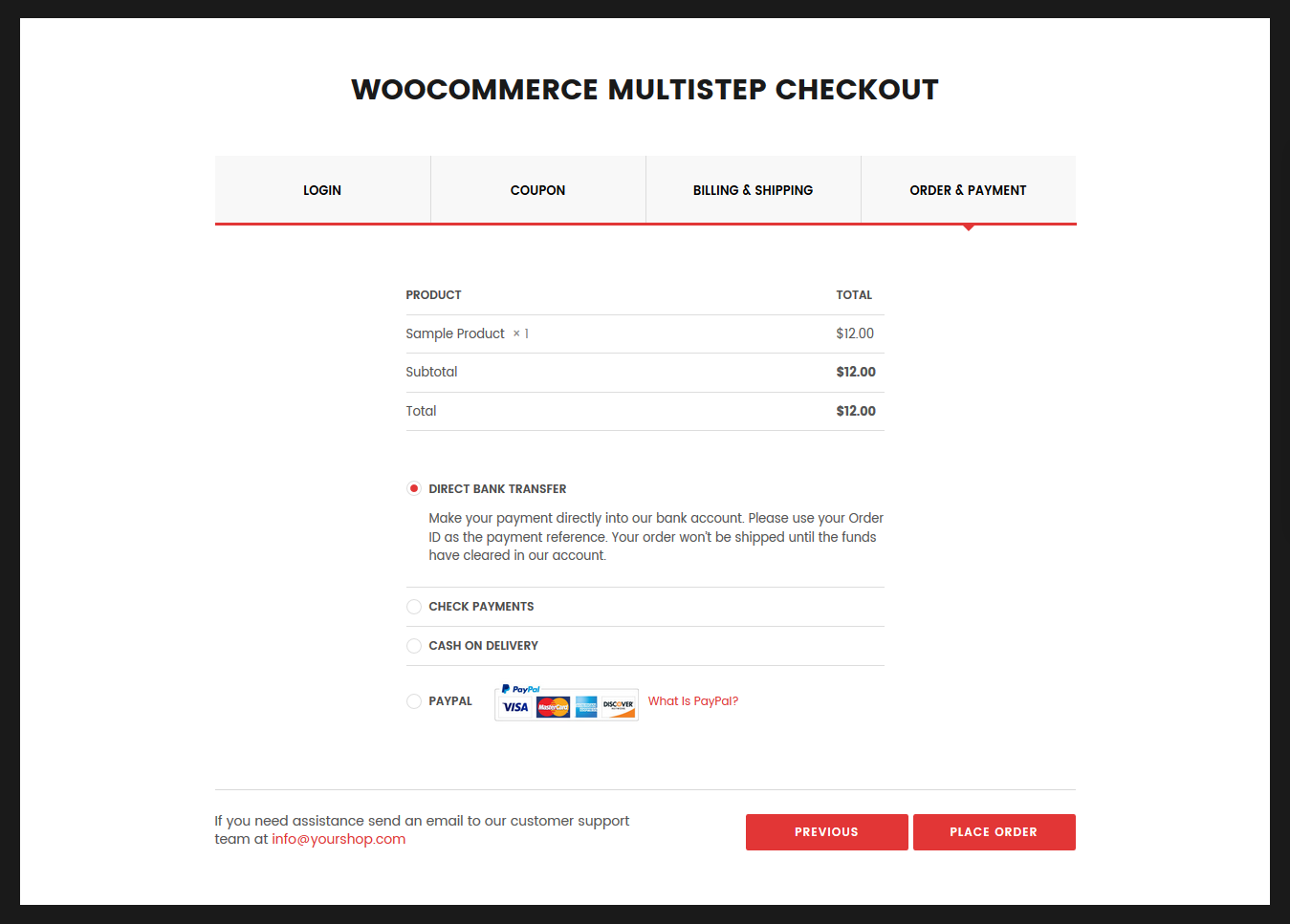 Image result for WooCommerce MultiStep Checkout Wizard