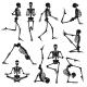 Black Human Skeletons Background - GraphicRiver Item for Sale