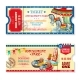 Invitation Tickets to Carnival in Amusement Park - GraphicRiver Item for Sale