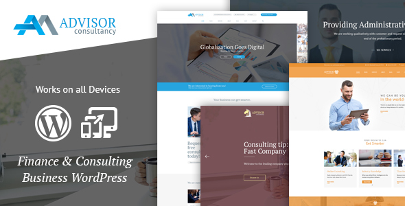 Advisor – Business, Finance WordPress Theme
