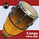 Conga Drum - Real Time PBR - 3DOcean Item for Sale