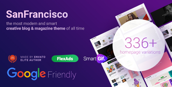 SanFrancisco – MultiConcept Blog & Magazine WordPress Theme