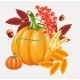 Happy Thanksgiving Celebration Background. Autumn - GraphicRiver Item for Sale