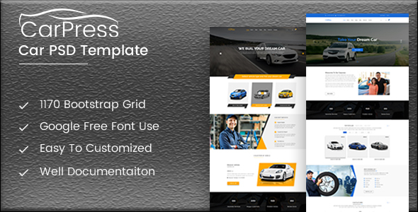 CarPress PSD Template