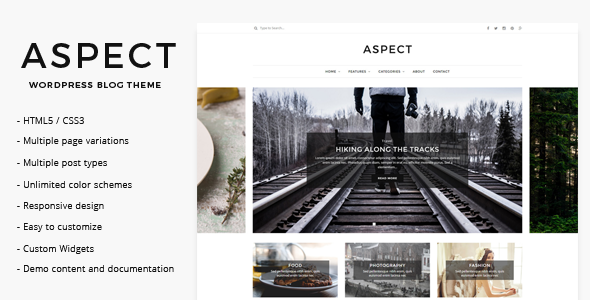 Aspect - WordPress Blog Theme