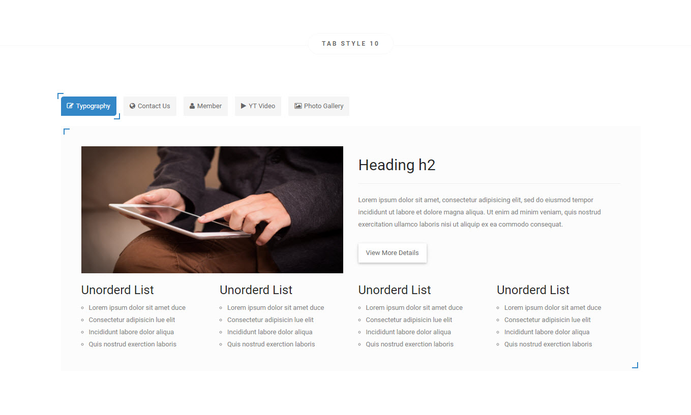 Active - A Responsive Bootstrap Pure CSS3 Tabs