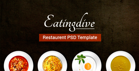 Eatingdive – Restaurant PSD Template