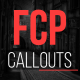 FCP Callouts - VideoHive Item for Sale